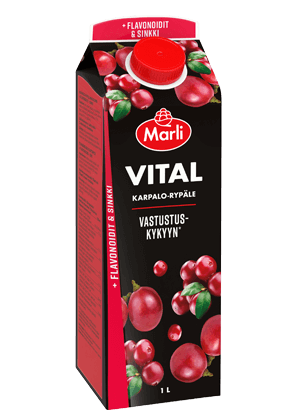 Marli Vital Karpalo-rypäle + flavonoidit & sinkki 1 L