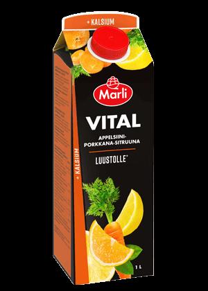 Marli Vital Appelsiini-porkkana-sitruuna + kalsium 1 L