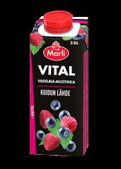 Marli Vital Vadelma-mustikka + kuitu 2 dl