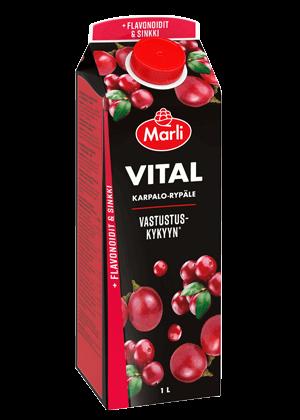 Marli Vital Karpalo-rypälejuoma + flavonoidit & sinkki 1L
