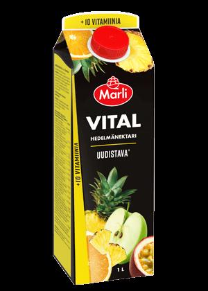 Marli Vital  Hedelmänektari + 10 vitamiinia 1L
