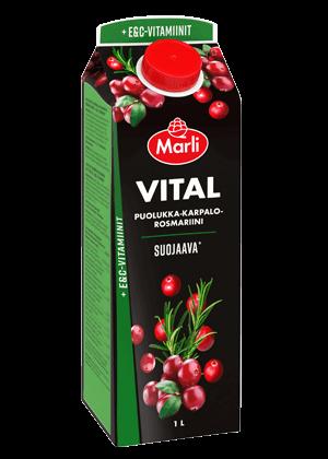 Marli Vital Puolukka-Karpalo-Rosmariini mehujuoma 1L